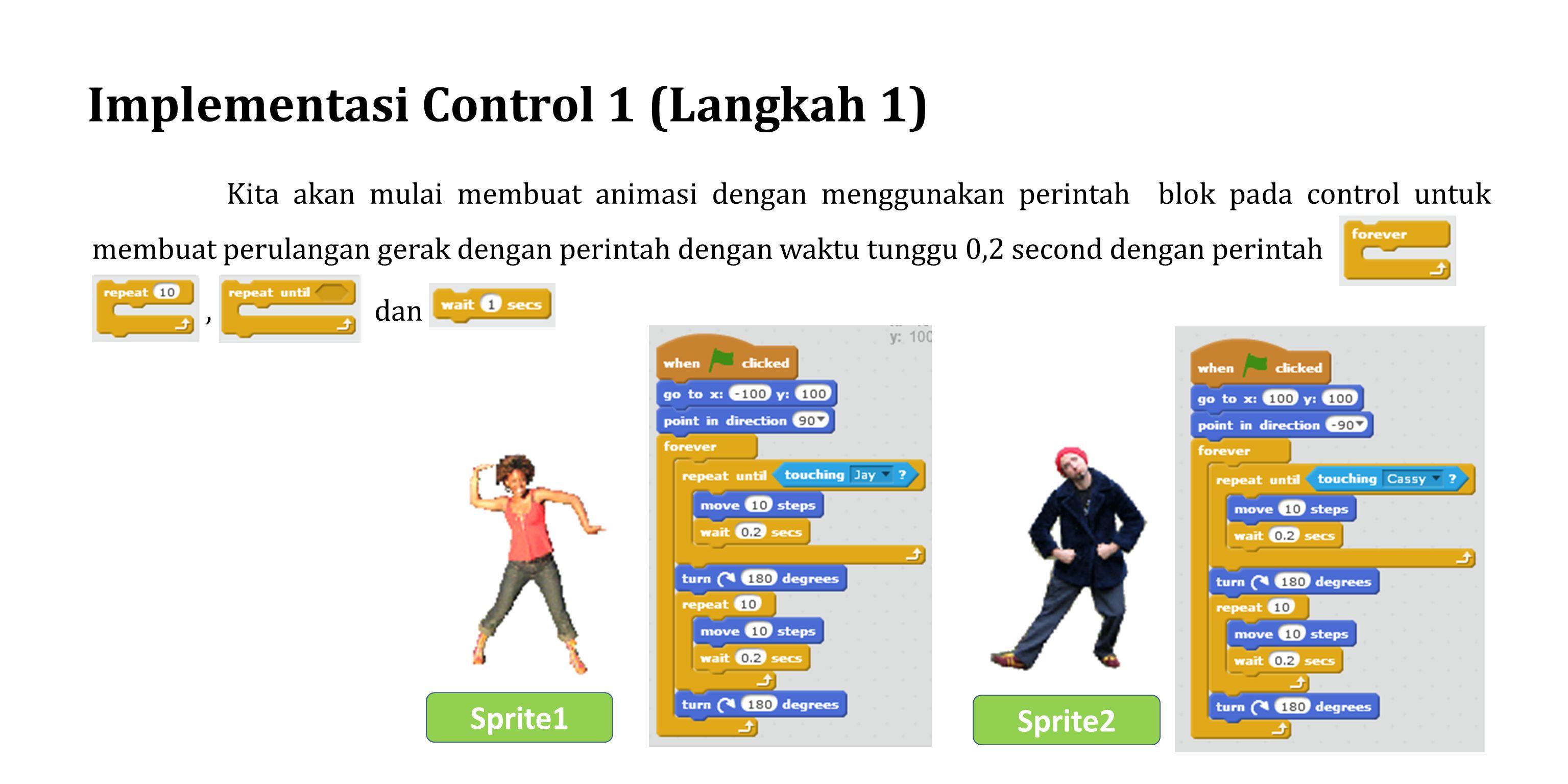 Implementasi Control 1 (Langkah 1)