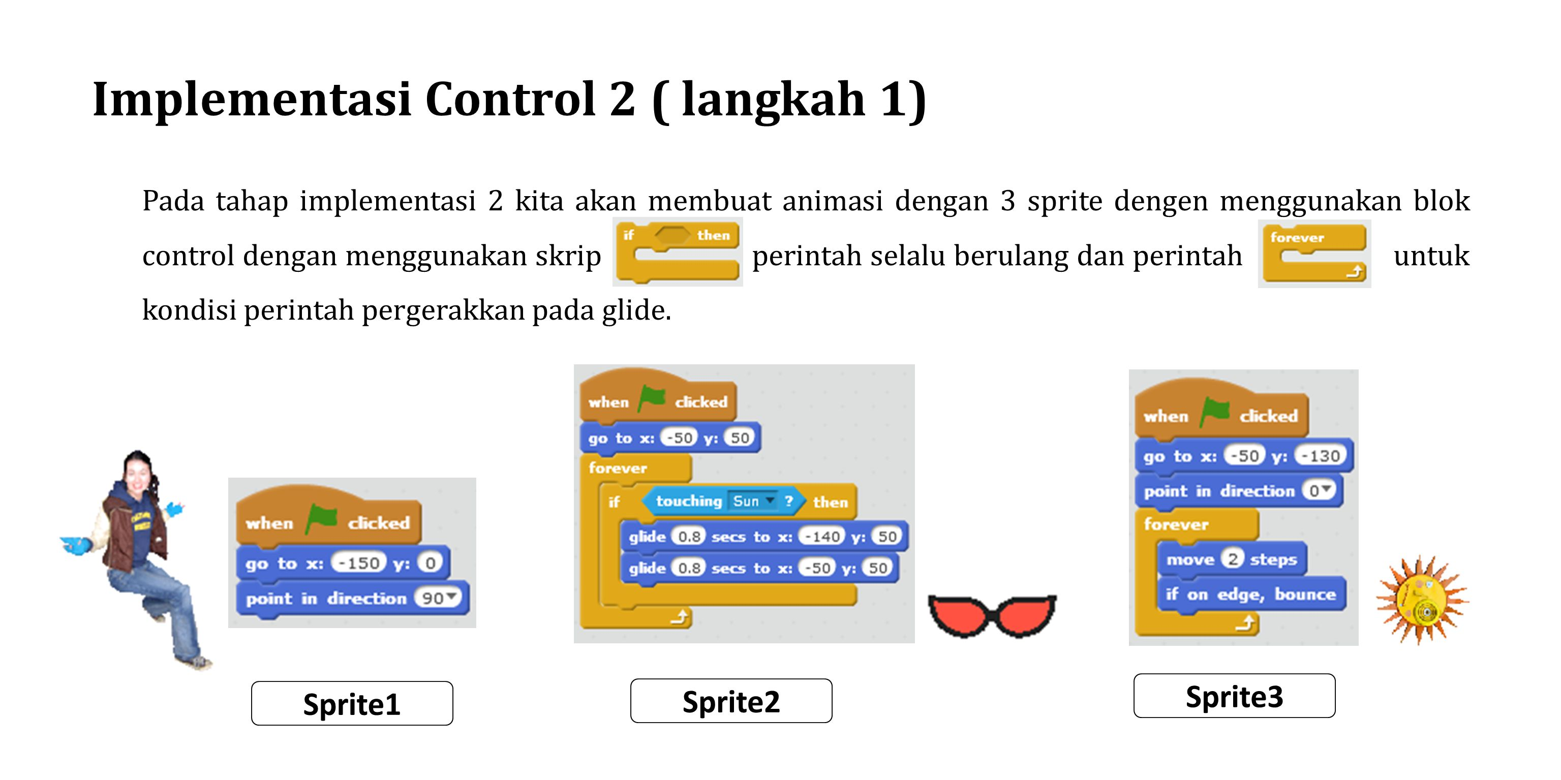 Implementasi Control 2 ( langkah 1)