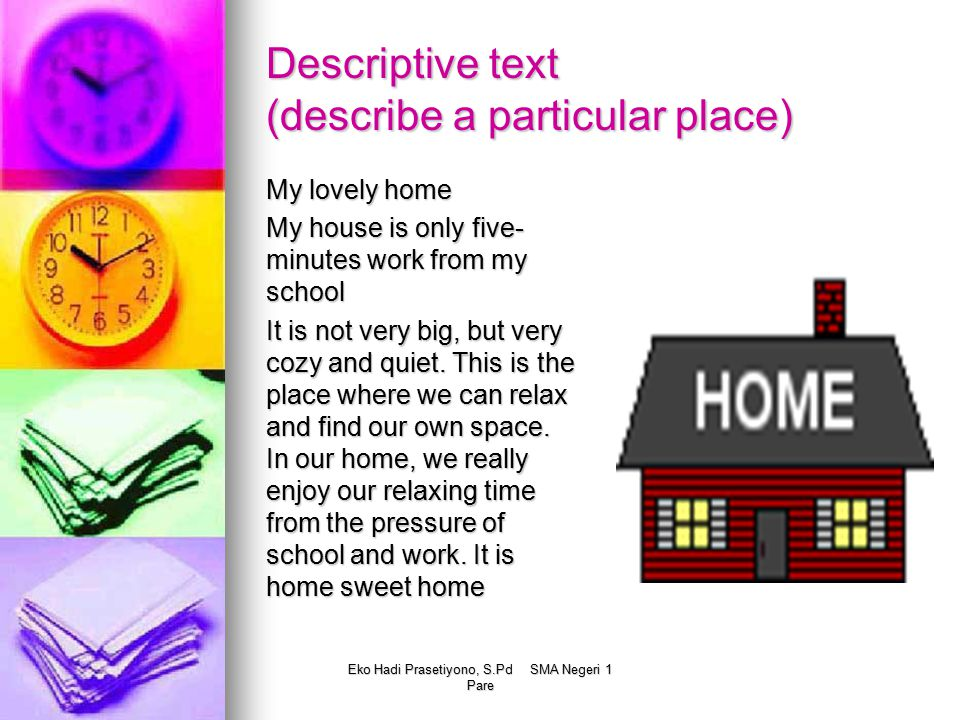 Descriptive text (describe a particular place)