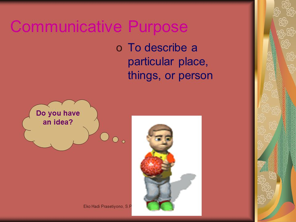 Communicative Purpose
