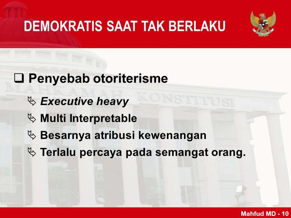 DEMOKRATIS SAAT TAK BERLAKU