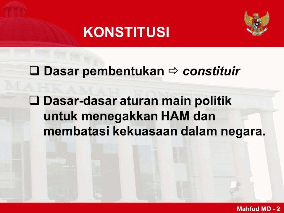 KONSTITUSI Dasar pembentukan  constituir