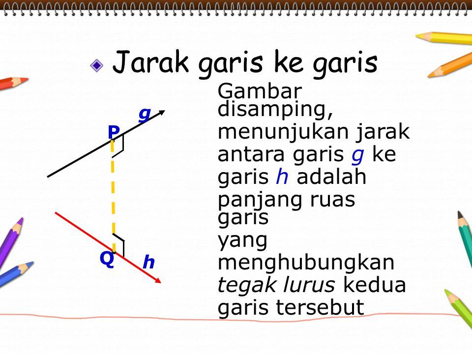 Jarak garis ke garis Gambar disamping, menunjukan jarak