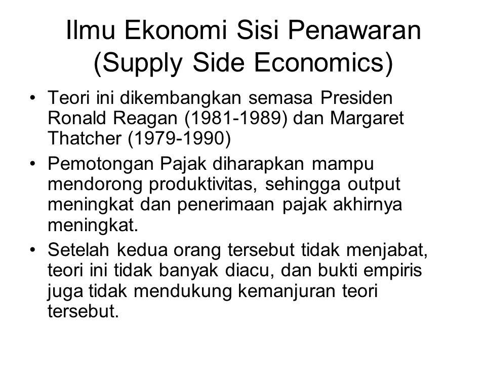 Ilmu Ekonomi Sisi Penawaran (Supply Side Economics)