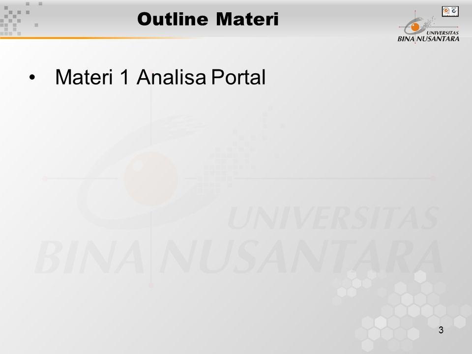 Outline Materi Materi 1 Analisa Portal