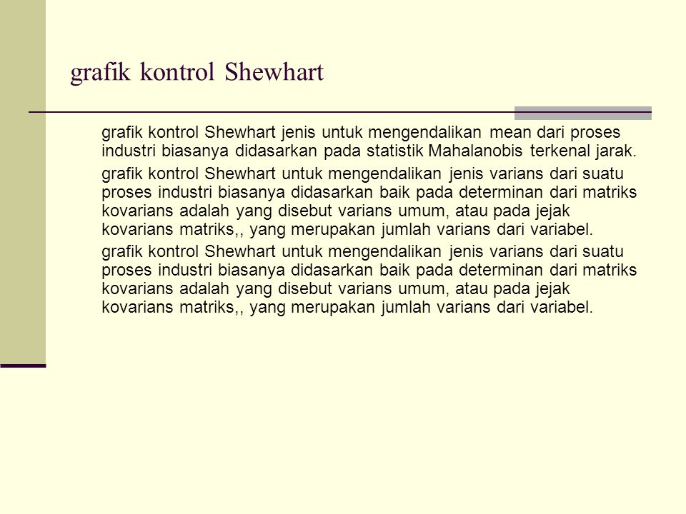 grafik kontrol Shewhart