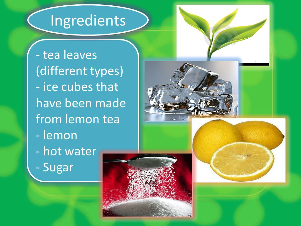 Ingredients - tea leaves (different types)