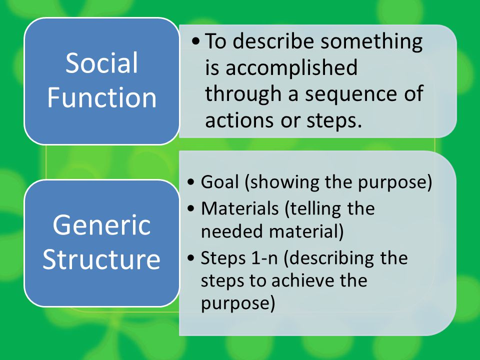 Social Function Generic Structure
