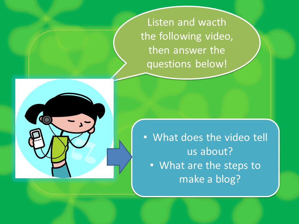 Listen and wacth the following video, then answer the questions below!