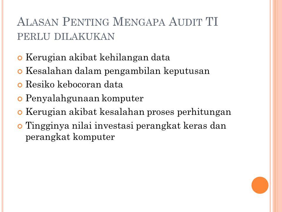Alasan Penting Mengapa Audit TI perlu dilakukan