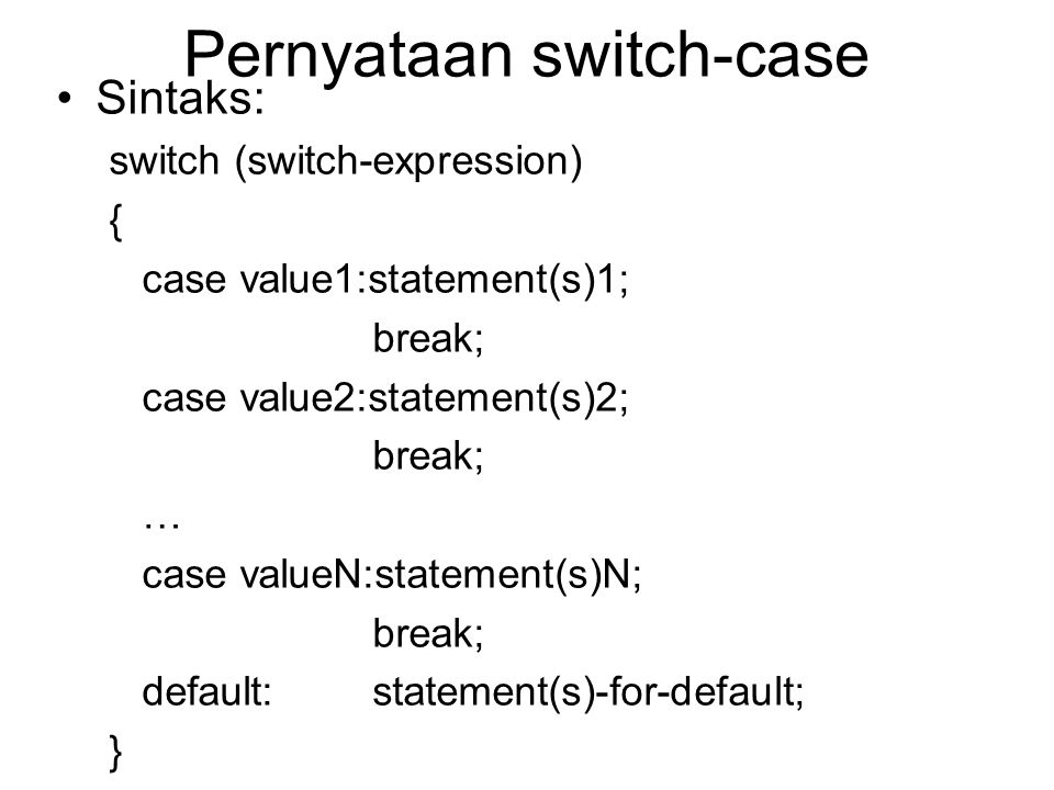 Pernyataan switch-case