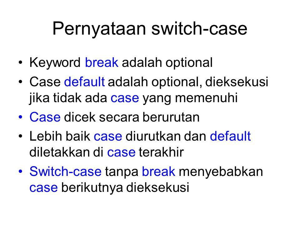 Pernyataan switch-case