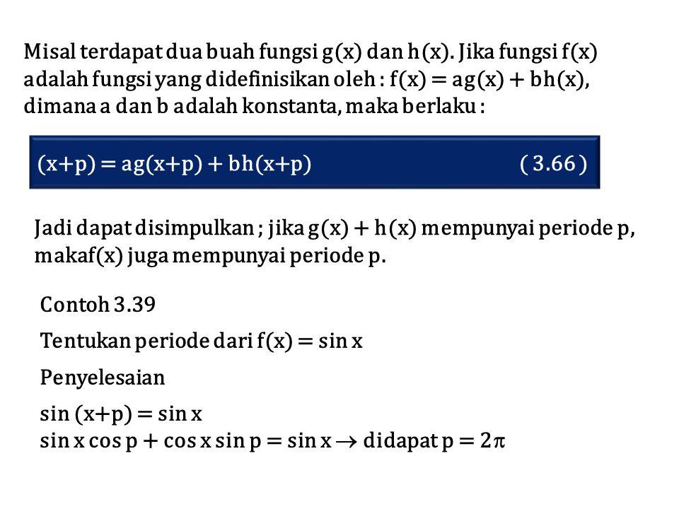Misal terdapat dua buah fungsi g(x) dan h(x). Jika fungsi f(x)