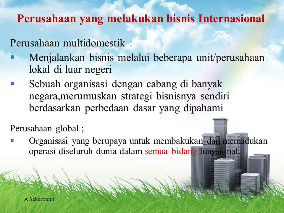 Perusahaan yang melakukan bisnis Internasional