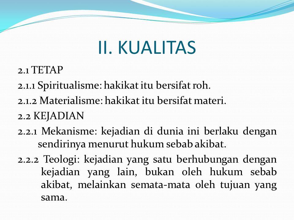 II. KUALITAS