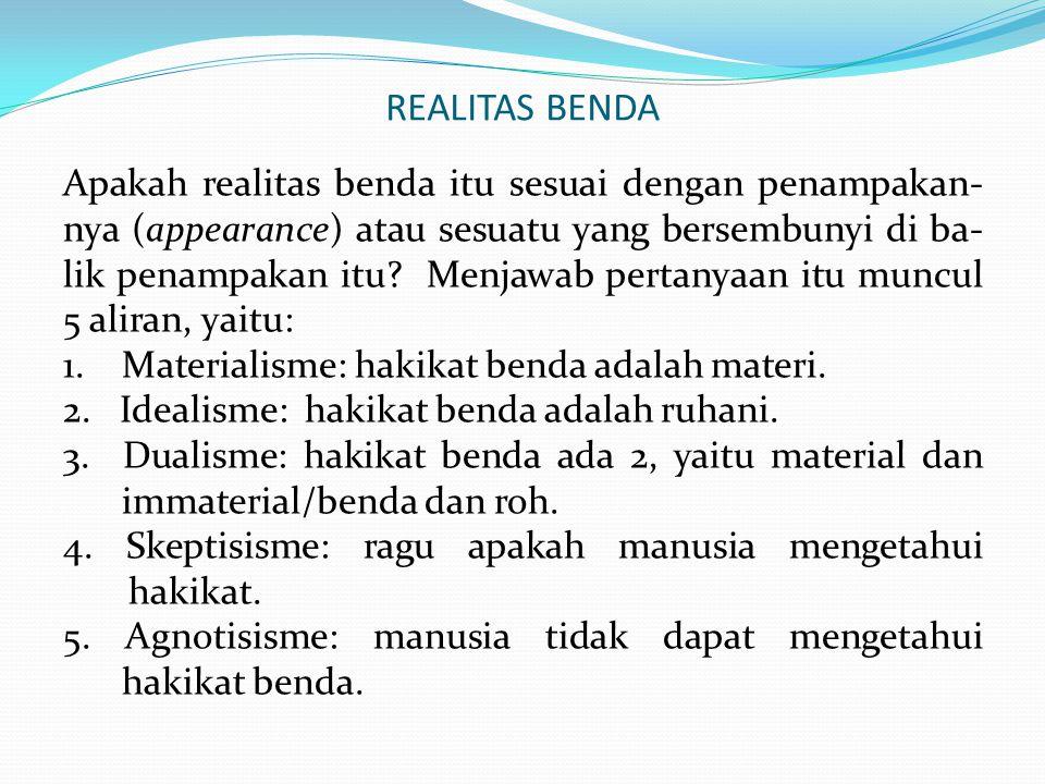 REALITAS BENDA