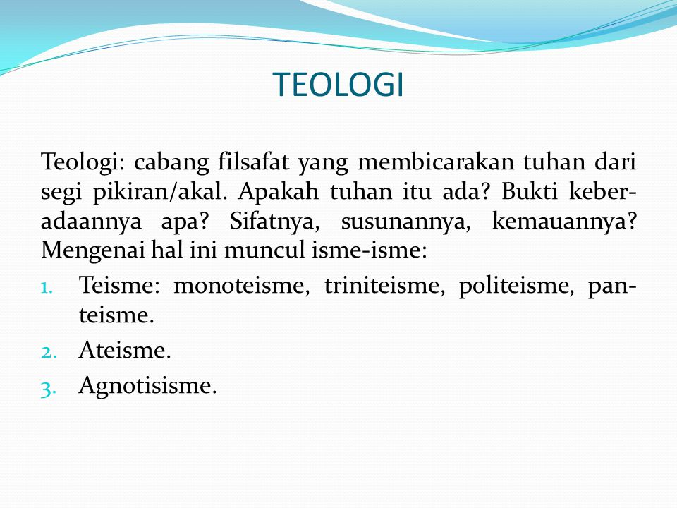 TEOLOGI