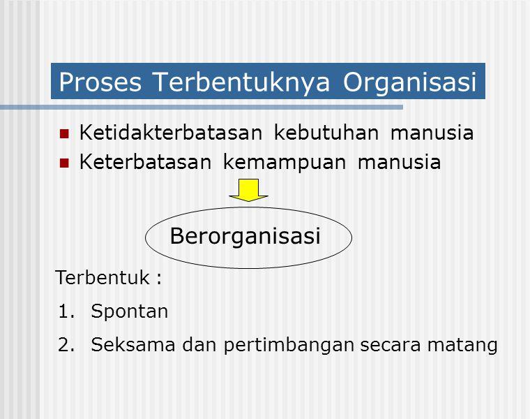 Proses Terbentuknya Organisasi