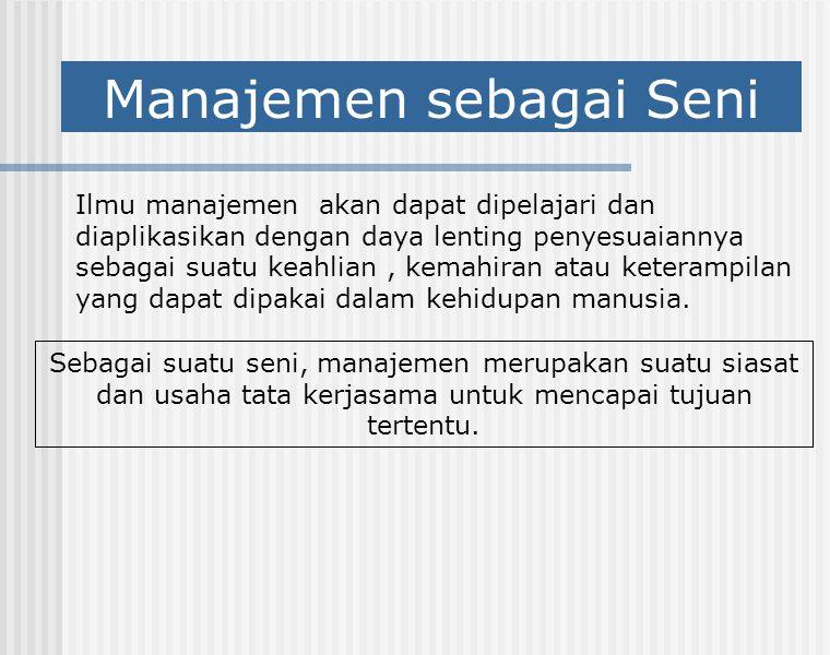 Manajemen sebagai Seni