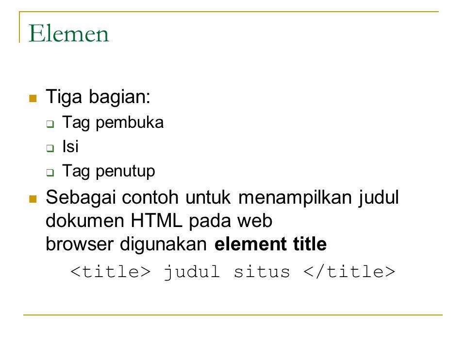 <title> judul situs </title>