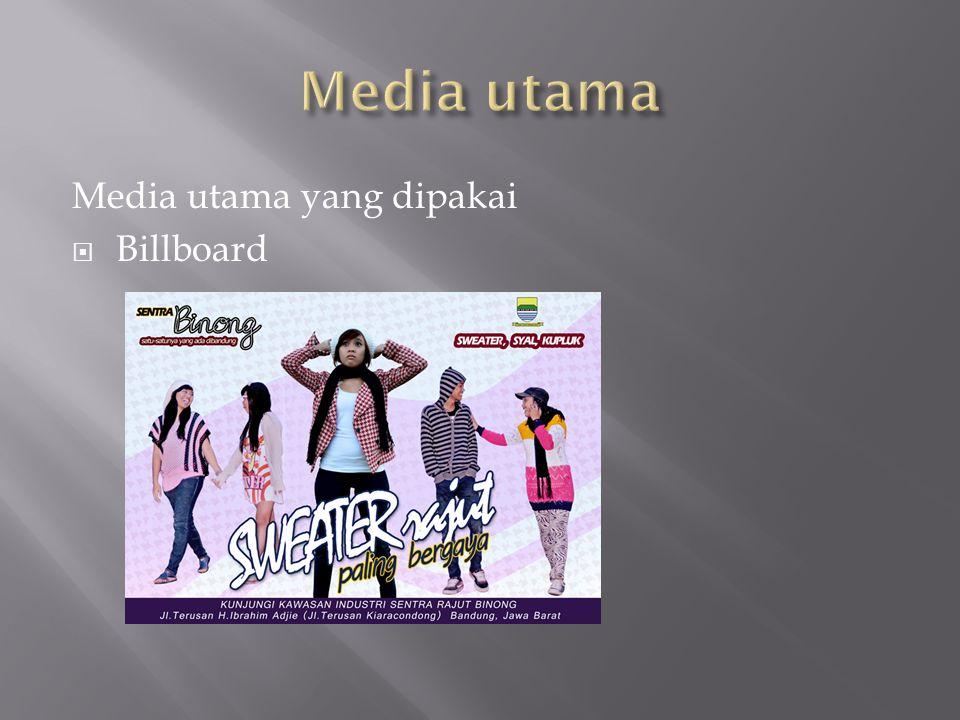 Media utama Media utama yang dipakai Billboard
