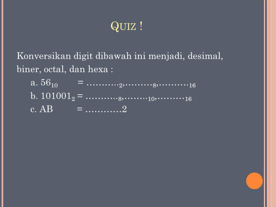 Quiz !