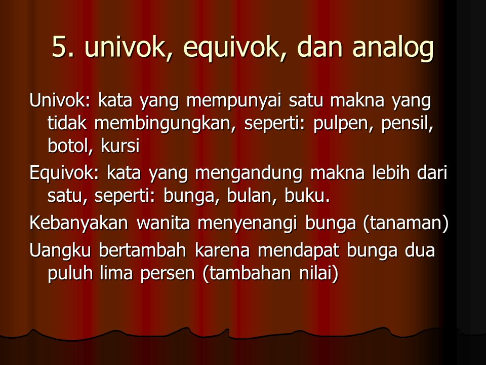 5. univok, equivok, dan analog