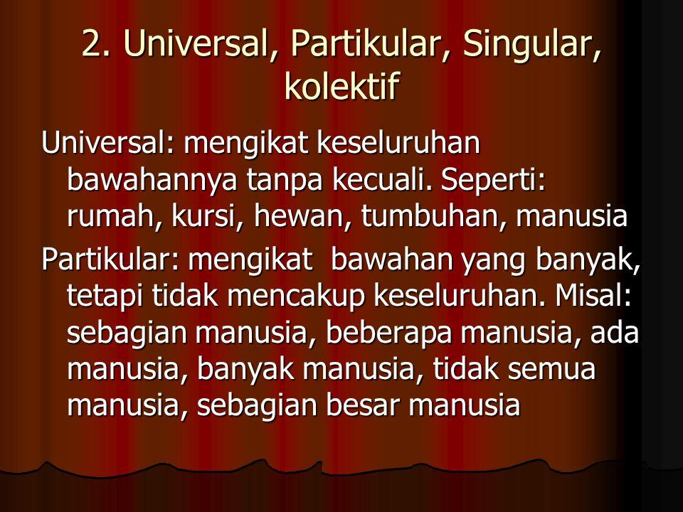 2. Universal, Partikular, Singular, kolektif