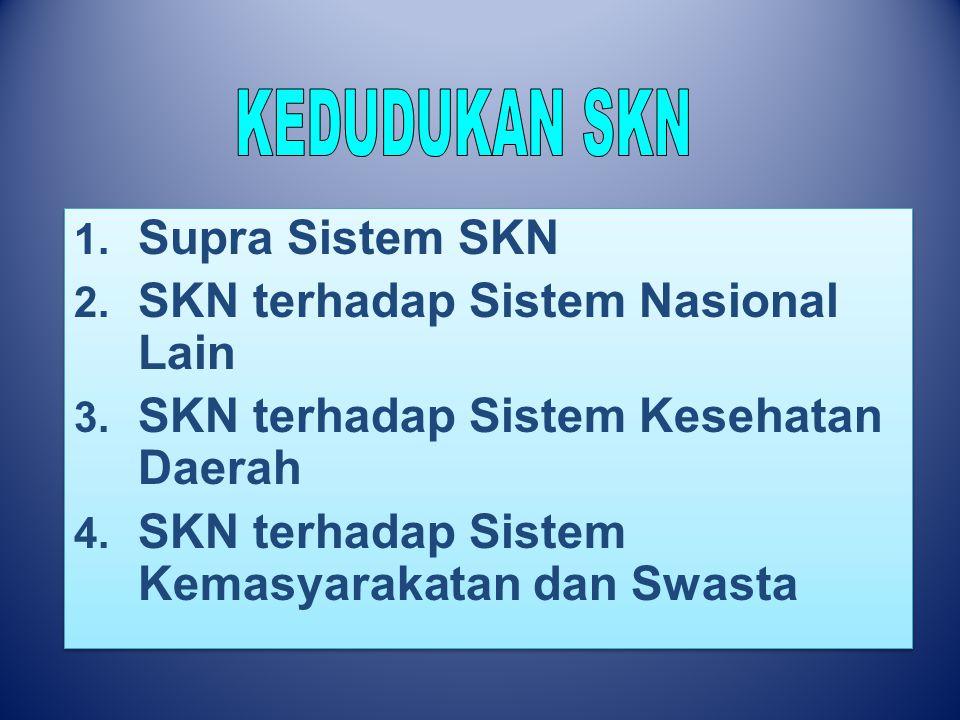 SKN terhadap Sistem Nasional Lain SKN terhadap Sistem Kesehatan Daerah