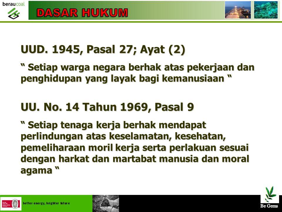 DASAR HUKUM UUD. 1945, Pasal 27; Ayat (2)