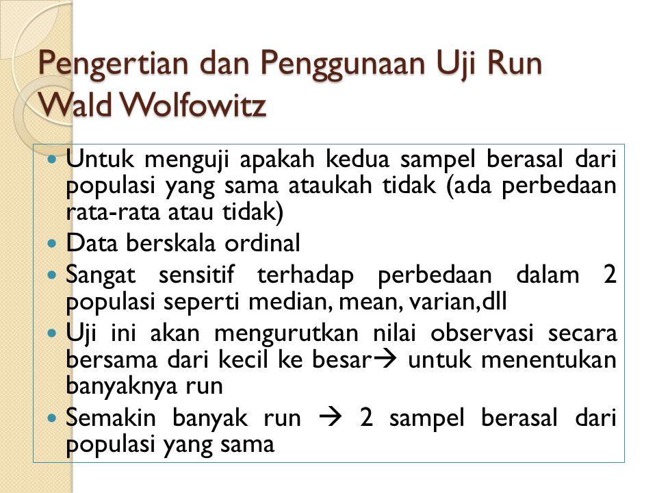 Pengertian dan Penggunaan Uji Run Wald Wolfowitz