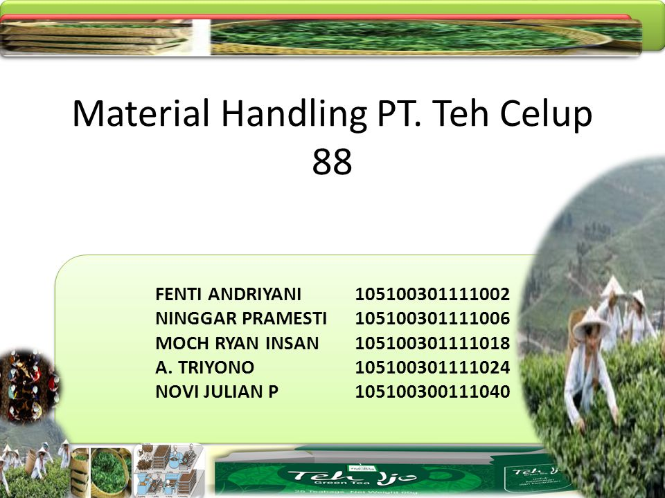 Material Handling PT. Teh Celup 88