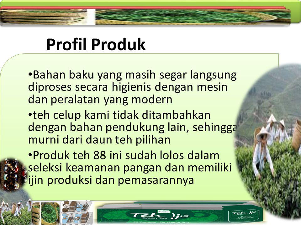 Profil Produk Bahan baku yang masih segar langsung diproses secara higienis dengan mesin dan peralatan yang modern.