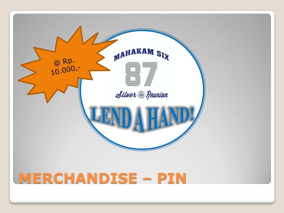@ Rp. 10.000,- LEND A HAND! MERCHANDISE – PIN
