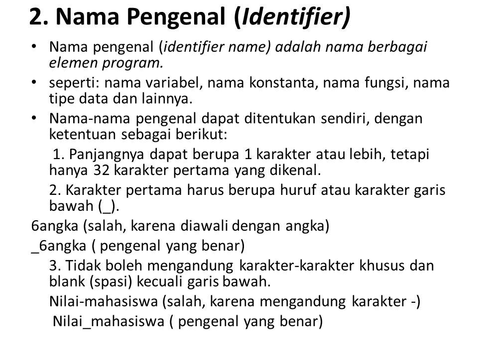 2. Nama Pengenal (Identifier)