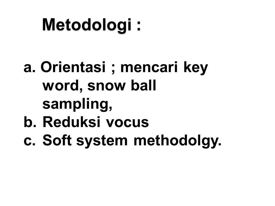 Metodologi : a.