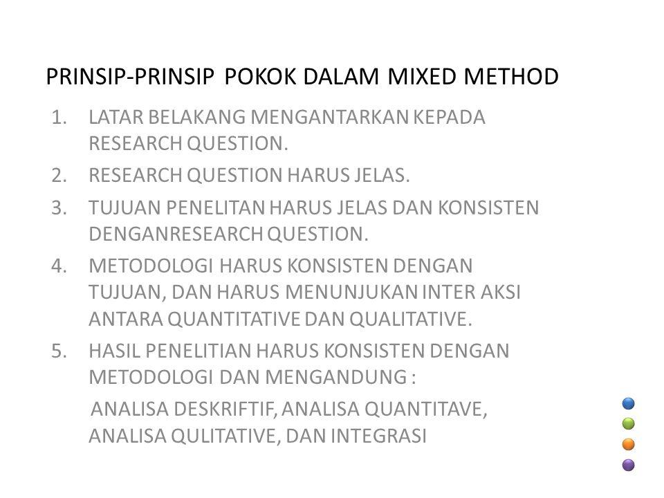 PRINSIP-PRINSIP POKOK DALAM MIXED METHOD