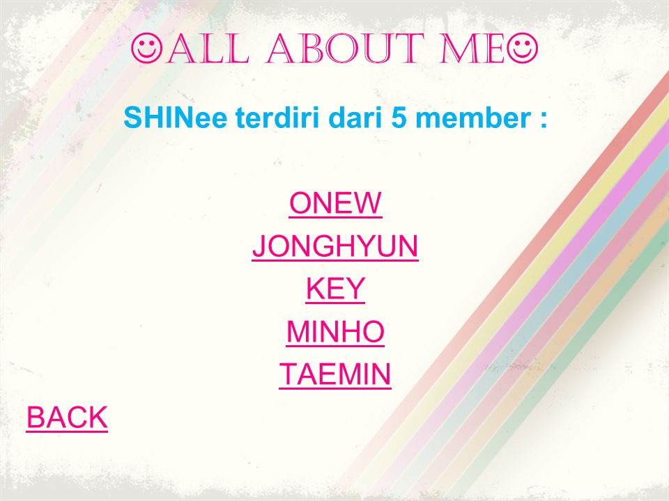 SHINee terdiri dari 5 member :