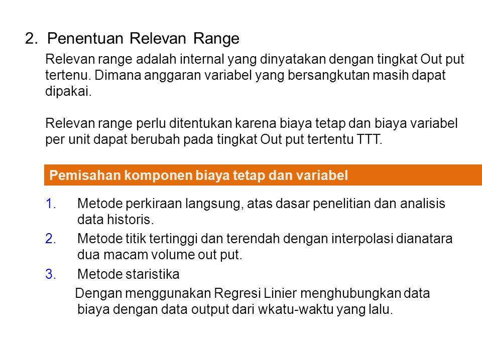 2. Penentuan Relevan Range