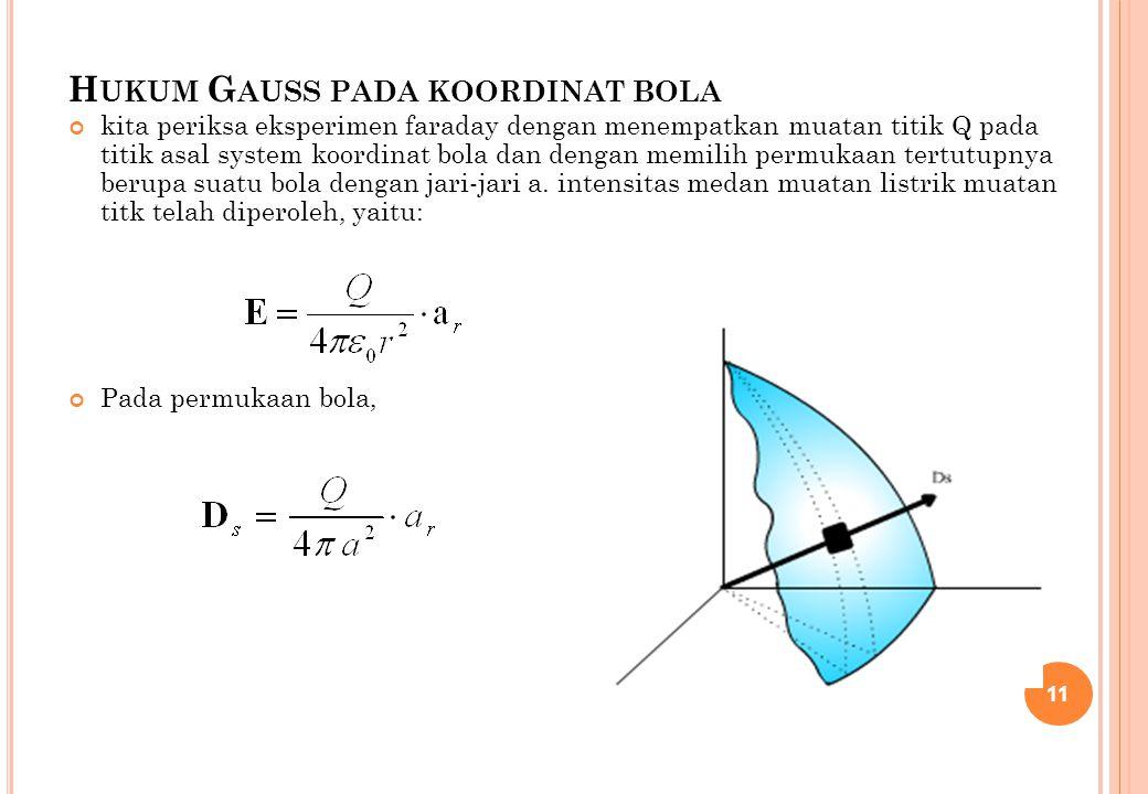 Hukum Gauss pada koordinat bola
