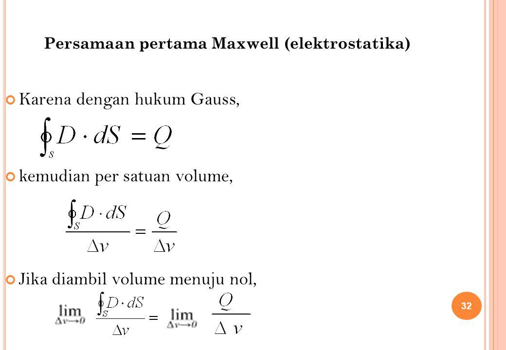 Karena dengan hukum Gauss,