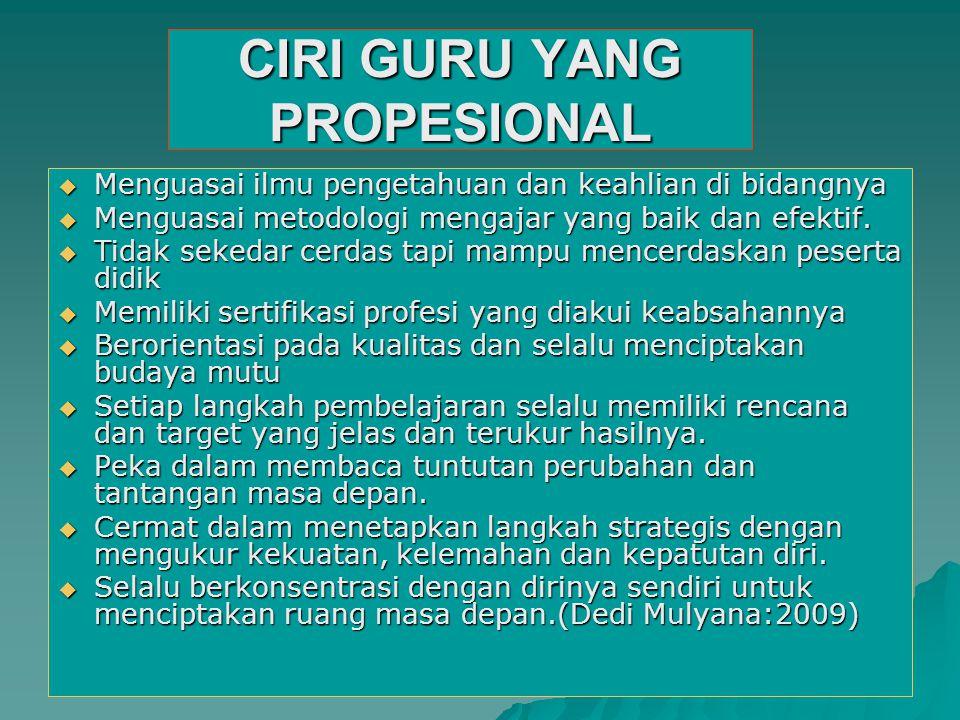 CIRI GURU YANG PROPESIONAL