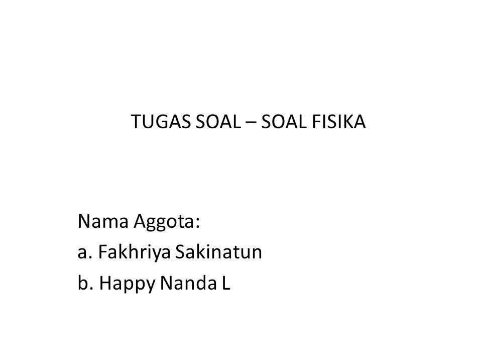 Nama Aggota: a. Fakhriya Sakinatun b. Happy Nanda L