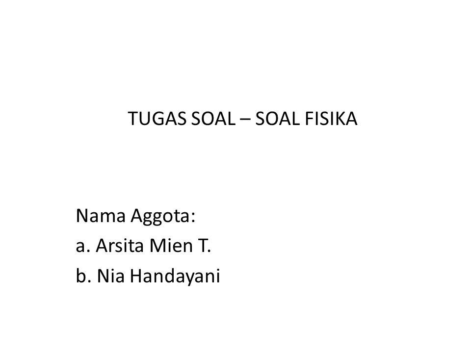 Nama Aggota: a. Arsita Mien T. b. Nia Handayani