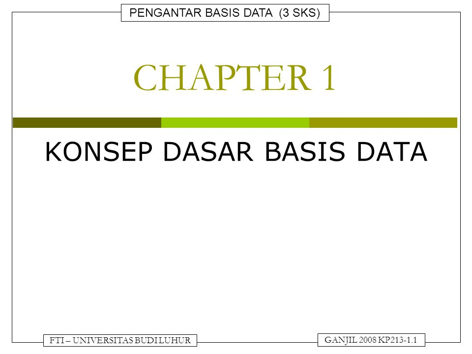 KONSEP DASAR BASIS DATA