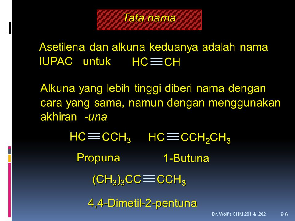 Asetilena dan alkuna keduanya adalah nama IUPAC untuk