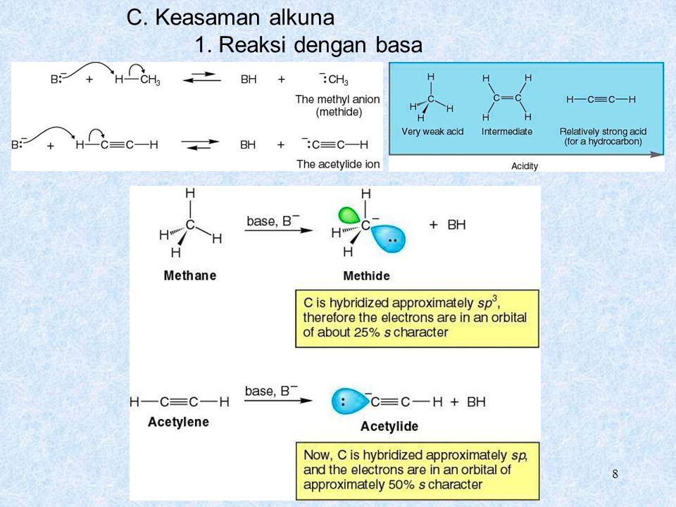 C. Keasaman alkuna 1. Reaksi dengan basa Chapter 9