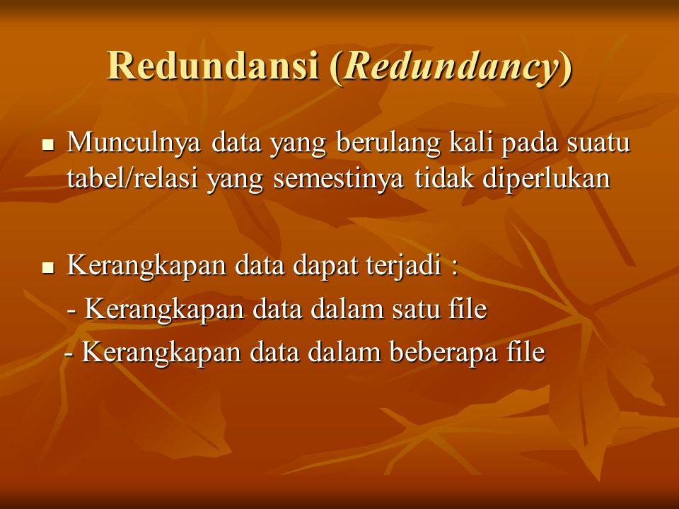 Redundansi (Redundancy)