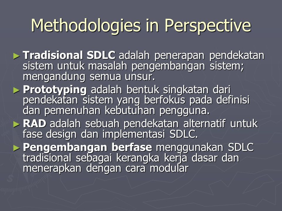 Methodologies in Perspective