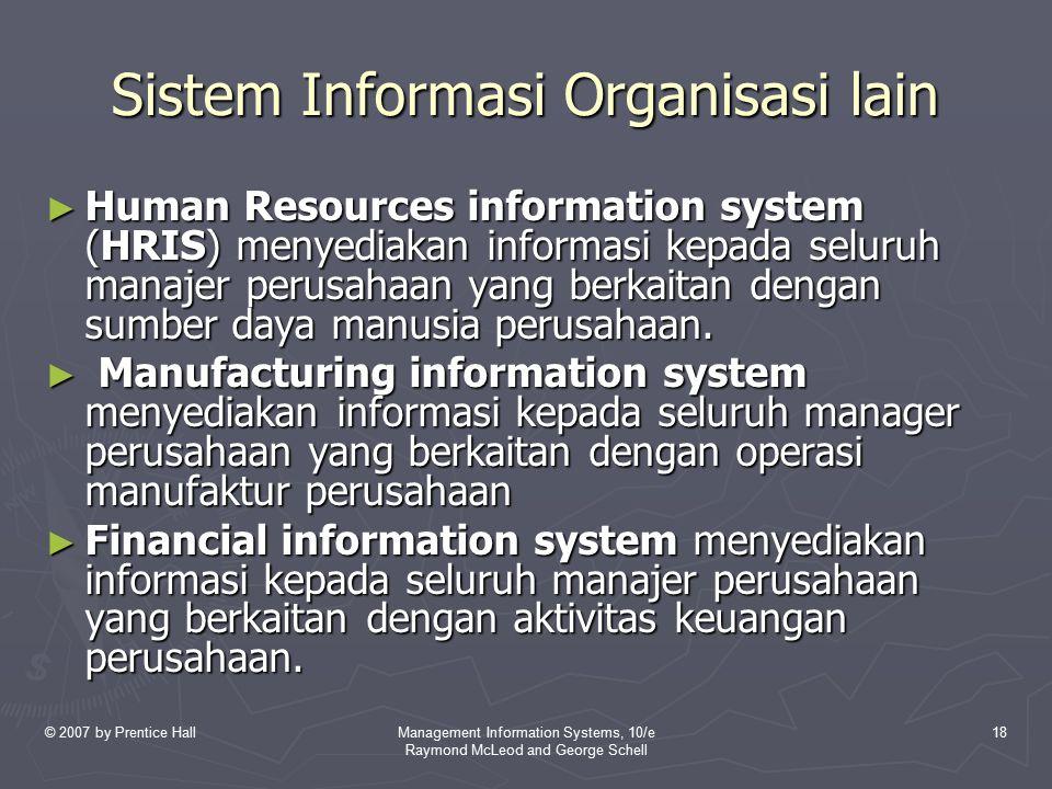 Sistem Informasi Organisasi lain
